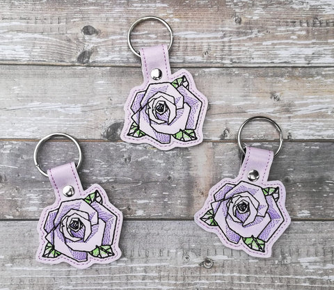DIGITAL DOWNLOAD Geometric Rose Snap Tab