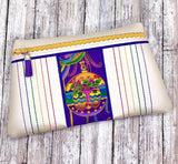 DIGITAL DOWNLOAD Parhelion Clutch Applique Zipper Bag Lined and Unlined
