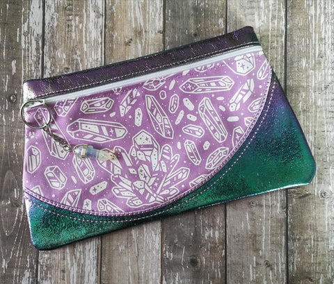 DIGITAL DOWNLOAD New Wave Clutch Applique Zipper Bag Lined and Unlined