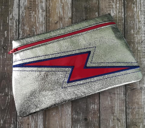 DIGITAL DOWNLOAD Thunderstruck Clutch Applique Zipper Bag Lined and Unlined