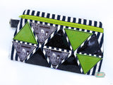 DIGITAL DOWNLOAD Triangulate Clutch Applique Zippered Bag Lined and Unlined