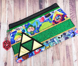 DIGITAL DOWNLOAD Logan Clutch Applique Zippered Bag Lined and Unlined