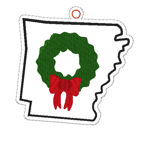 DIGITAL DOWNLOAD 4x4 Arkansas State Holiday Ornament