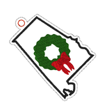 DIGITAL DOWNLOAD 4x4 Alabama State Holiday Ornament