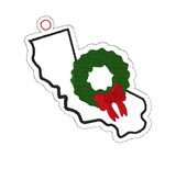 DIGITAL DOWNLOAD 4x4 California State Holiday Ornament