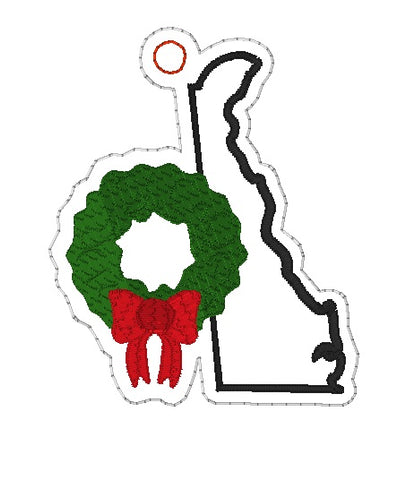 DIGITAL DOWNLOAD 4x4 Delaware State Holiday Ornament
