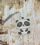 DIGITAL DOWNLOAD 4x4 Panda Bookmark ITH Embroidery Design Full Fill and Sketchy