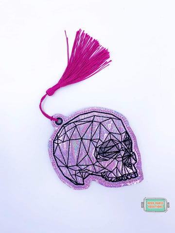 4x4 DIGITAL DOWNLOAD Geometric Skull Bookmark