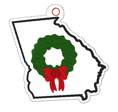 DIGITAL DOWNLOAD 4x4 Georgia State Holiday Ornament