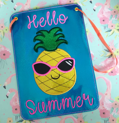 DIGITAL DOWNLOAD ITH Hello Summer Door Sign 4 Sizes