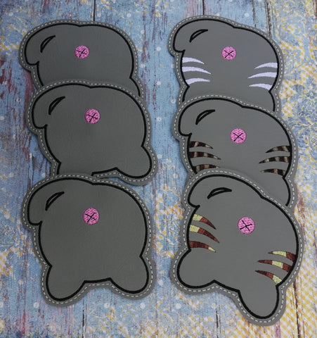 DIGITAL DOWNLOAD 4x4 Cat Booty Coaster Set 4 Versions