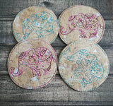 DIGITAL DOWNLOAD 4x4 Zen Coaster Set