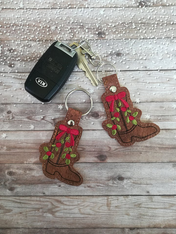 4x4 DIGITAL DOWNLOAD Holiday Western Boot Snap Tab