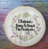 DIGITAL DOWNLOAD Floral I Solemnly Swear To Smash The Patriarchy 4 Sizes