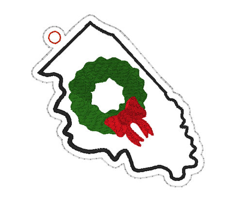 DIGITAL DOWNLOAD 4x4 Illinois State Holiday Ornament