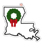 DIGITAL DOWNLOAD 4x4 Louisiana State Holiday Ornament