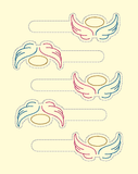 4x4 DIGITAL DOWNLOAD Infant Loss Wings Snap Tab