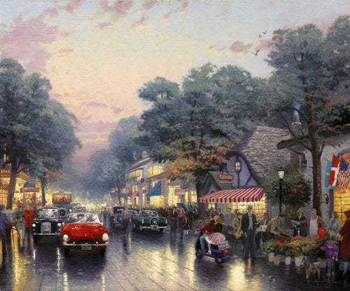 Carmel, Dolores Street and the Tuck Box Tea Room
