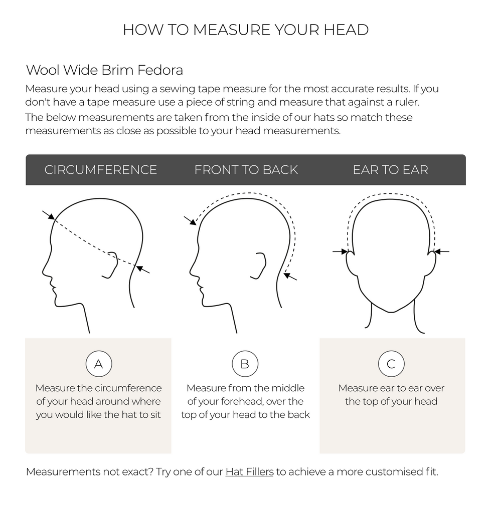 How to measure your head for a wide brim fedora