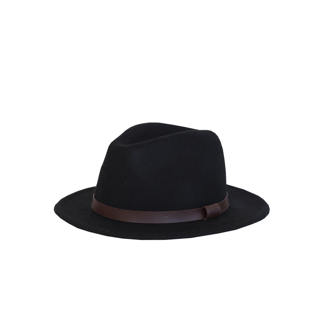 Me and the brave 100% wool black brown wide brim fedora hat for kids
