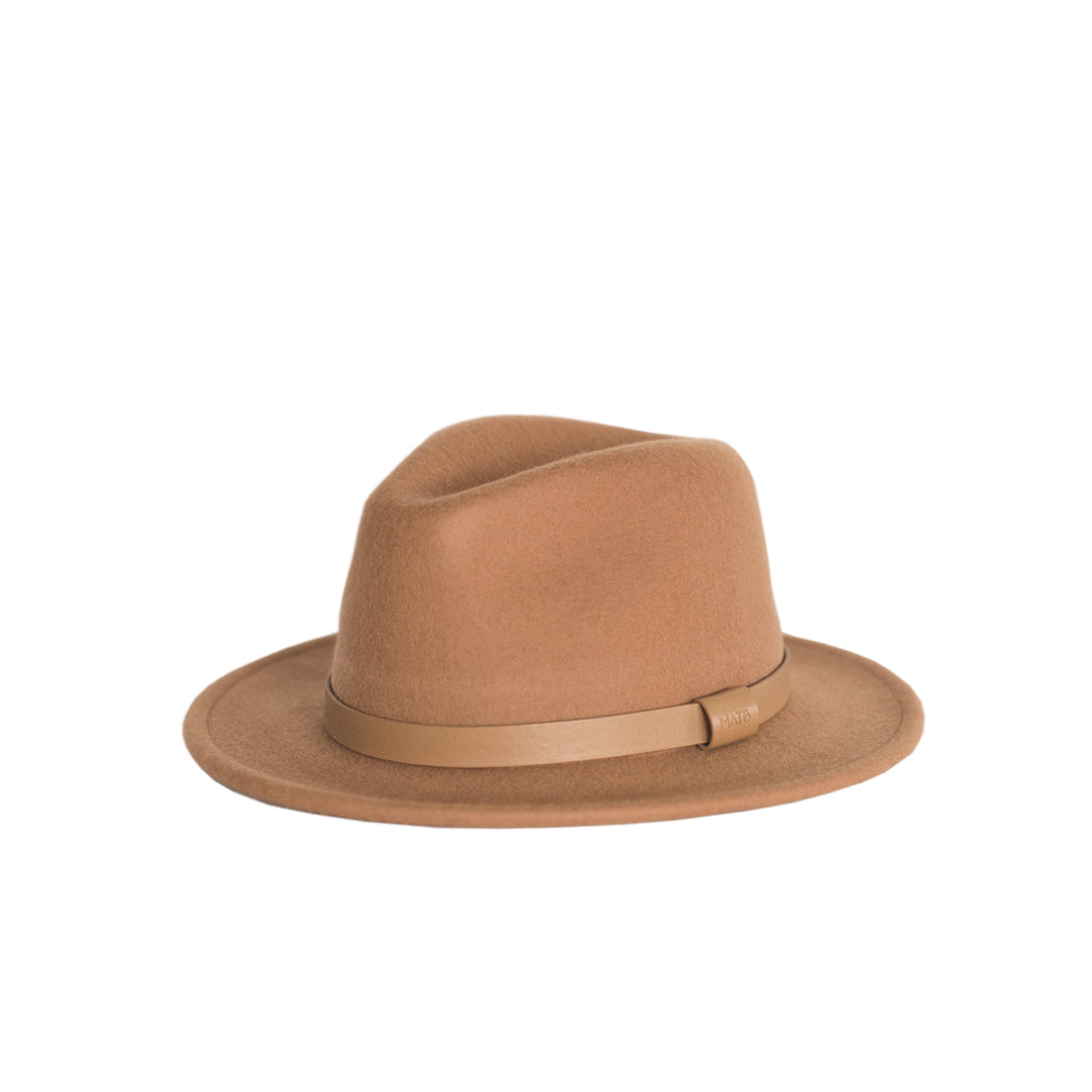 Me and the brave tan coloured 100% wool wide brim fedora for kids