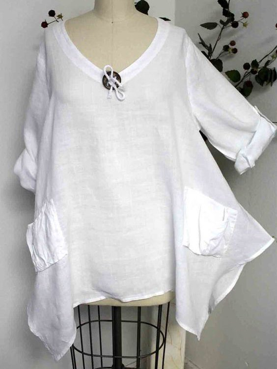 Casual Long Sleeve Solid Shirts Blouses