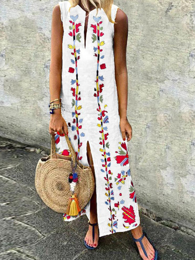 Sleeveless Sheath Maxi Dresses