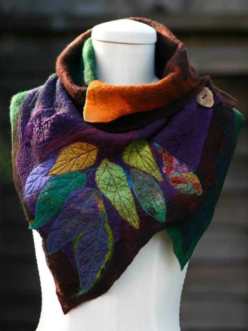 Brown Abstract Shift Casual Cotton Scarves & Shawls