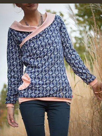 Casual Cotton-Blend Shirts Blouses