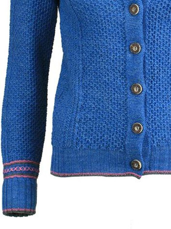 Blue Long Sleeve Knitted Sweater