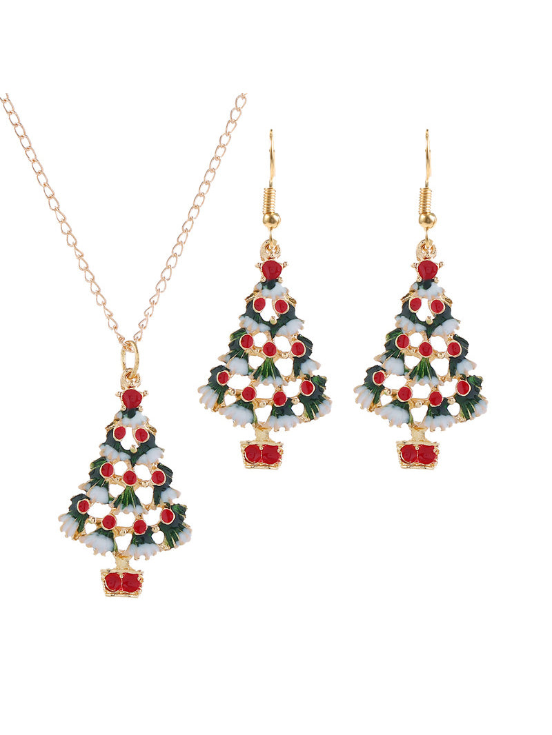 Christmas Golden Casual Alloy Jewelry Sets