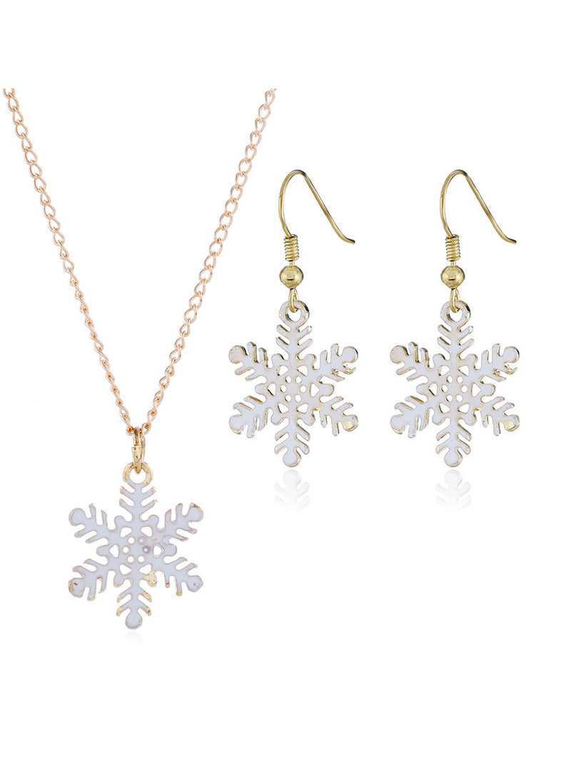 Christmas White Casual Alloy Jewelry Sets