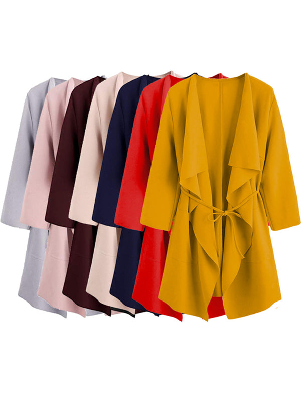 Cotton Long Sleeve Outwear-Coats