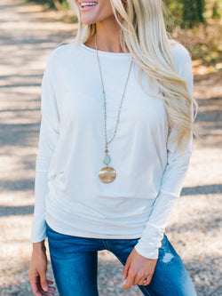 Long Sleeve Crew Neck Shirts Blouses
