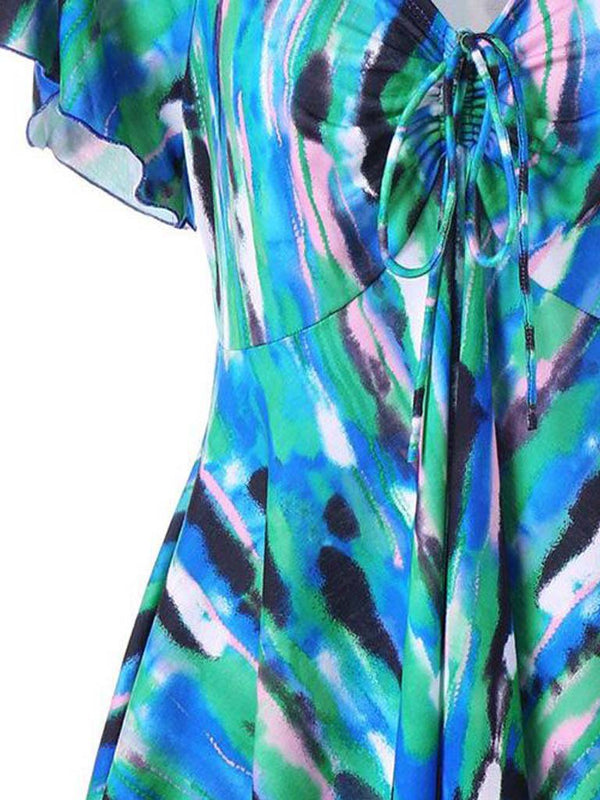 Casual Abstract Pattern Print Dresses