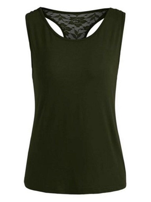 Round Neck Sleeveless Casual Shirts T-Shirts