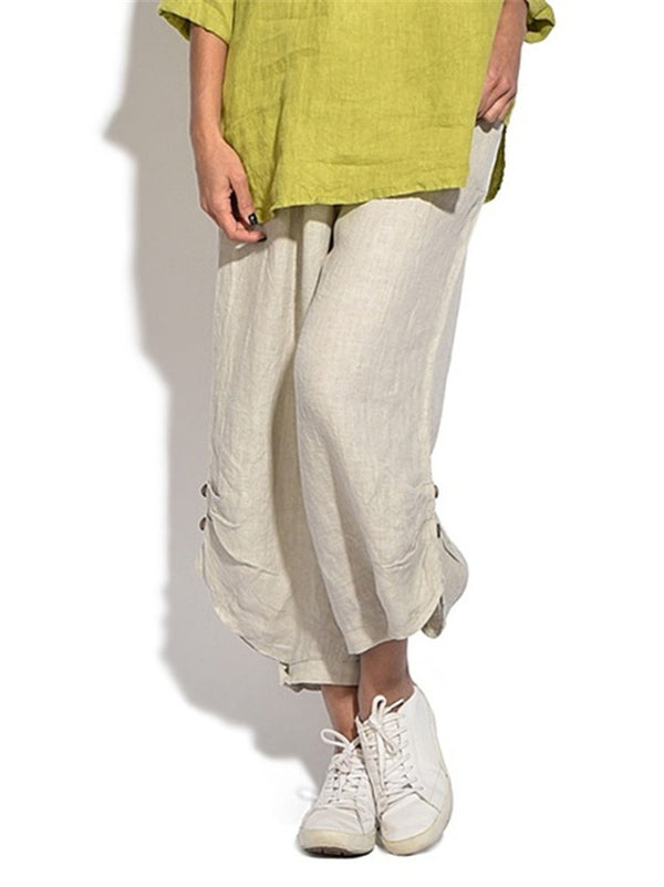 Cotton And Linen Casual Pants