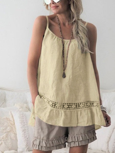 Sleeveless Casual Shirts Blouses