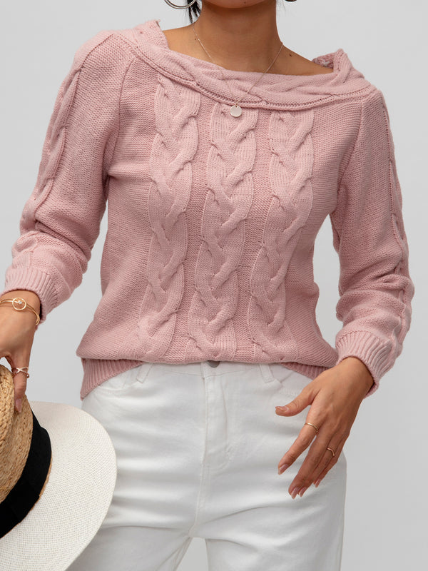Pink Knitted Shirts & Tops