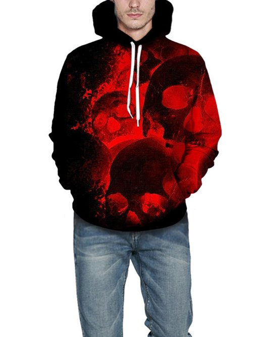 Red Cotton-Blend Casual Sweatshirt