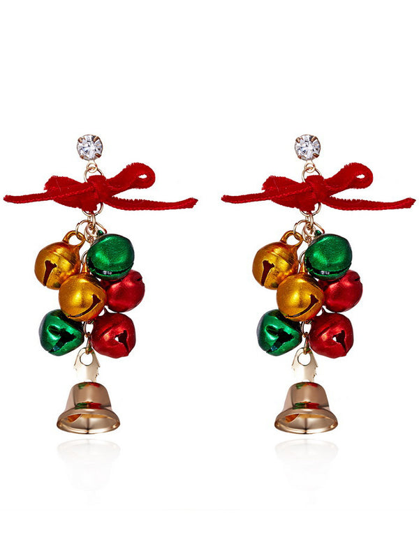 As Picture Alloy Casual Christmas Earrings