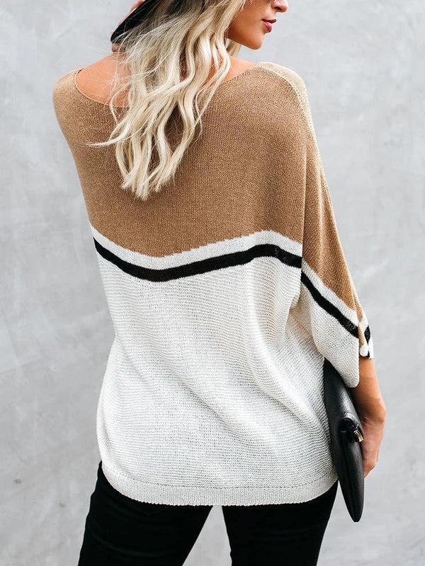 White Cotton-Blend Long Sleeve Sweater