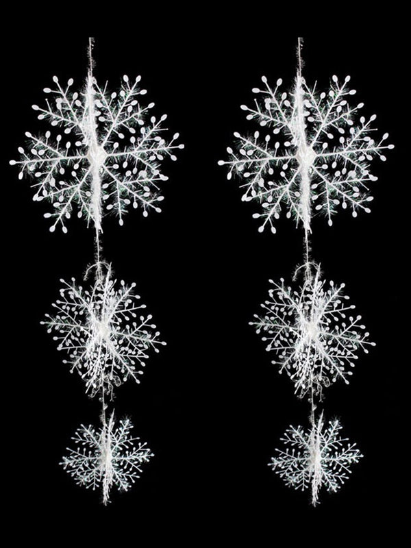 Christmas Party Snowflake Decoration Xmas Tree Hang Accessories