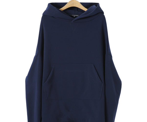 Navy Blue Hoodie Asymmetric Long Sleeve Hoodies