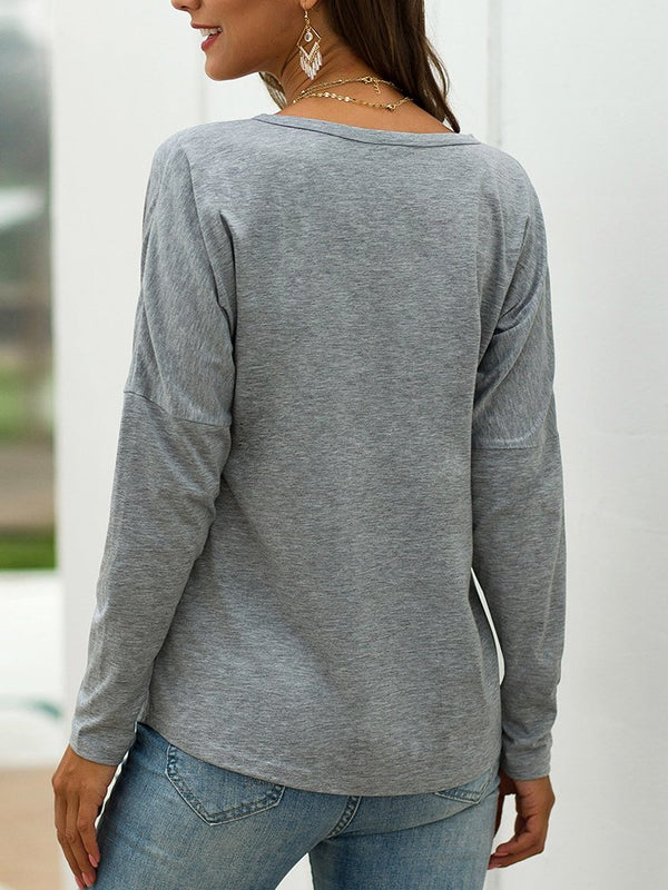 Light Gray Cotton Casual Shirts & Tops