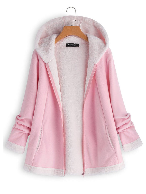 Casual Solid Long Sleeve Coat