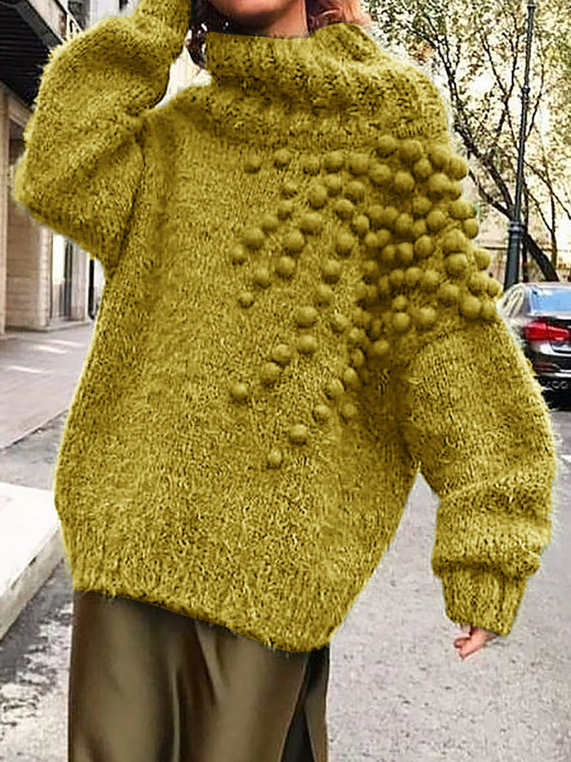 Cute Ball Knitted Sweaters Plus Size Pullovers