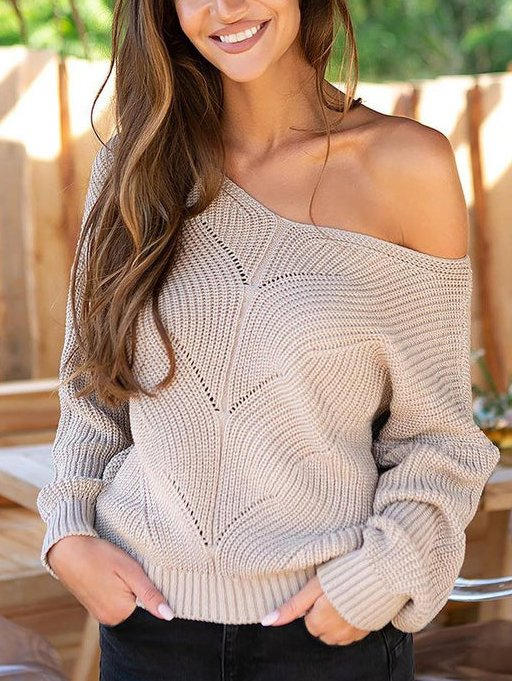 Nude Sexy Knitted Holiday Sweater