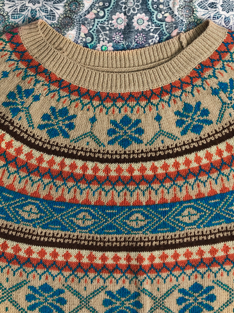 Color Vintage Knitted Sweater