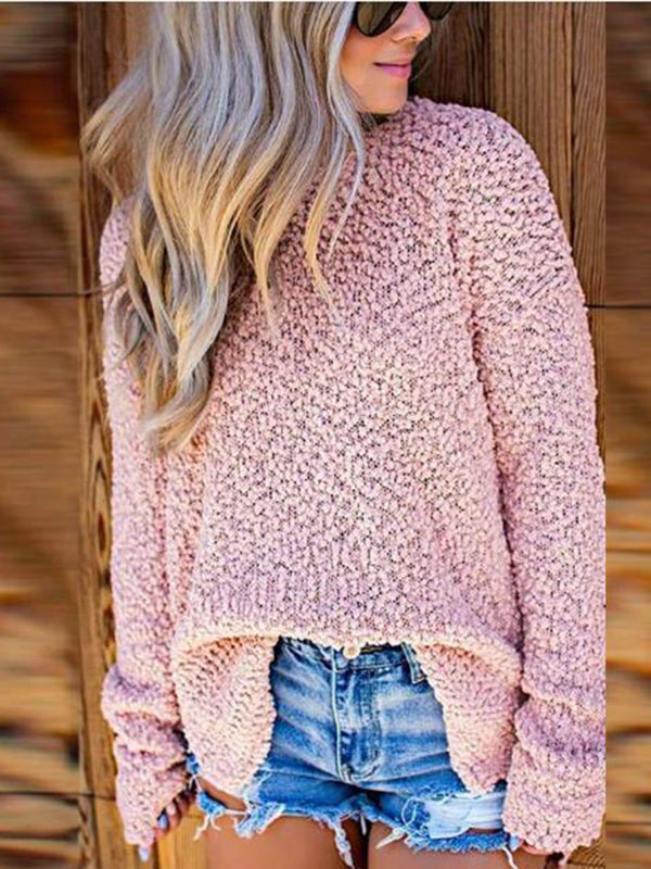 Long Sleeve Casual Round Neck Sweater